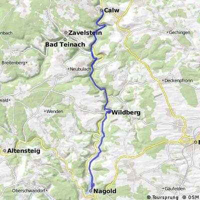 Nagold-Radweg: Nagold - Calw