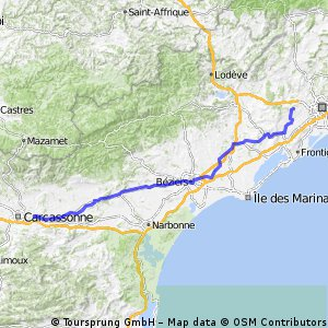 Montpellier to Carcasonne