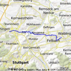 Porscheplatz, Zuffenhausen nach Wasserturm, WN
