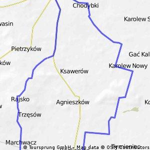 Smółki - Rajsko -  Grab - Pieńki -  Las Dąbrowski - Nowy Karolew - Złotniki -  Koźminek - Smółki