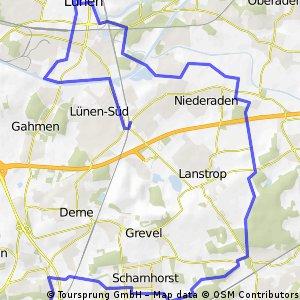 Kirchderne - Scharnhorst - Kurl - Niederaden - Lünen Mitte - Lünen Süd