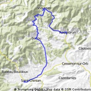 2014; route 9 naar Saint-Chinian