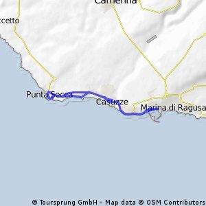 Cycling routes and bike maps in and around Marina di Ragusa