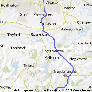 Derby to Ashby de la zouch castle