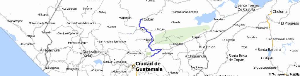 2.Sanarate-Cobán 158 Kms