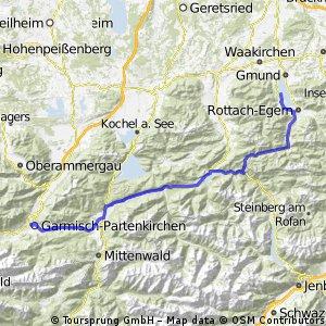 Tegernsee - Garmisch-Partenkirchen