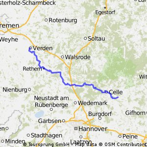Aller-Radweg im Aller-Leine-Tal