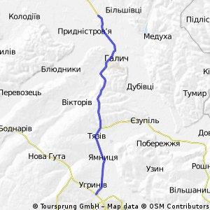 Івано-Франківськ-Галич-Більшівці(до зал. переїзду)
