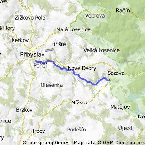 Cyklostezka Přibyslav-Sázava