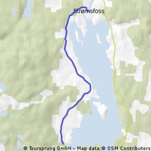 Delrute 1: Strømsfoss - Teigbukta