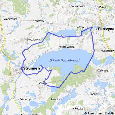 Pszczyna - dookoła jeziora Goczałkowickiego
