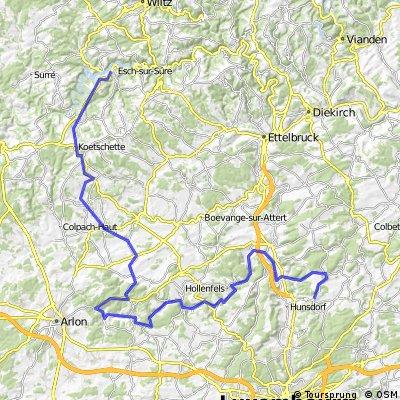 Horizonttour = Tal der 7 Schlösser bis Stau....