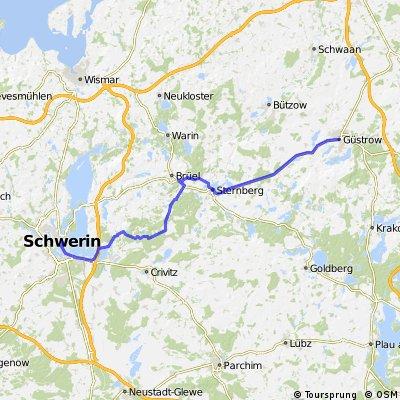 4a. Güstrow - Schwerin (abseits der B 104)