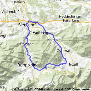 Siegsdorf - Inzell - Ruhpolding - Siegsdorf