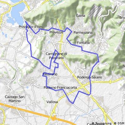 Franciacorta itinerario 2 BLU