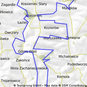 Trasa maratonu MTB Michałowice 2013