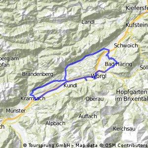 Wörgl-Rattenberg-Mariastein-Bad Haring-Wörgl