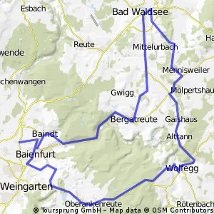 Baindt - Wolfegg - Bad Waldsee - Bergatreute - Baindt