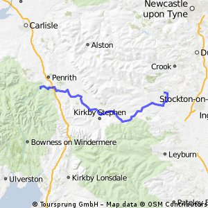 Pooley Bridge to Staindrop route 71, 68 and 20