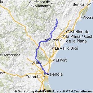 Atzeneta del Maestrat to Valencia