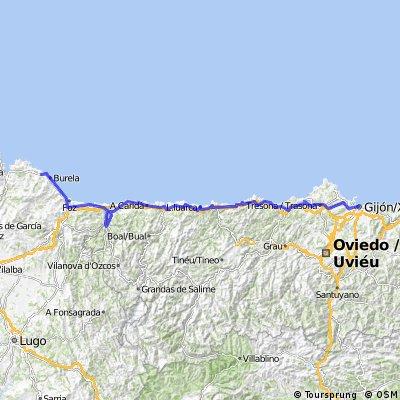 Gijón-Cudillero-Navia-Cervo