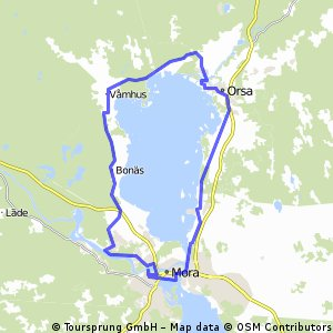 Cycling Routes And Bike Maps In And Around Mora Bikemap Your - Sweden map mora