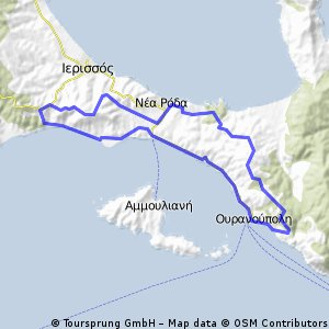 GR.Athos_Ouranoupoli_N.Roda_Xiropotamu_40km