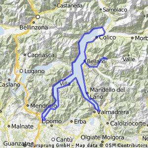 Premana-giro del lago di Como