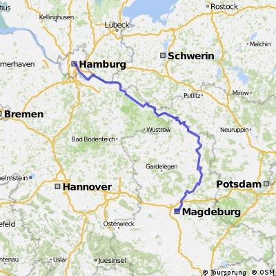 Magdeburg - Wittenberge - Hamburg