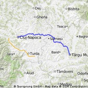 Cluj - Apahida - Camarasu - Sanpetru de Campie - Voiniceni - Targu Mures