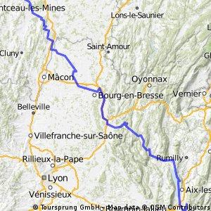 Chambéry (73) Buxy (71) à vélo