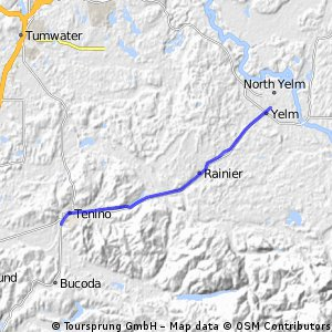 Yelm - Tenino via Rainier paved path