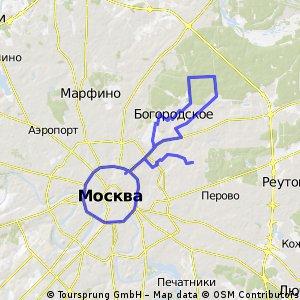 Мини покатушка на Московском Велопараде