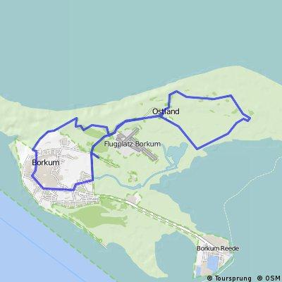 Borkum Karte Fahrradwege.Borkum City Ostand Bikemap Your Bike Routes