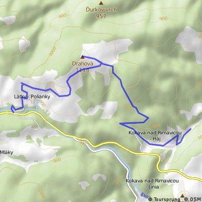 Polianky - Vrch Drahova - Kokava Haj