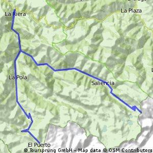 La Riera, Puerto de Somiedo, La Farrapona, La Riera