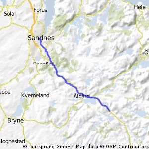 SandnesGandalOrstadBryne Bikemap Your bike routes
