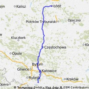Łódź-Częstochowa-Tychy-GreenWay