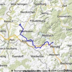 Merzig - Tünsdorf - Borg - Sinz