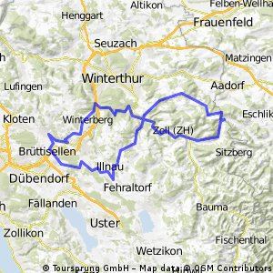 Bassersdorf - Rüetschberg/Huggenberg - Bassersdorf