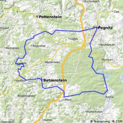 ADFC-Hof: Tour durch die Fränkische Schweiz