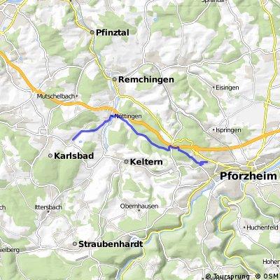 Auerbach (Karlsbad) - Wilferdinger Höhe