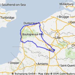 P stage 16..... Dunkerque – Saint-Valery-sur-Somme 6 Sept 2012