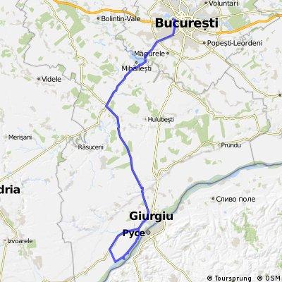 Bucuresti - Ostrovul Dinu de Jos  - Slobozia Giurgiu