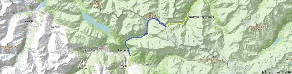 Bormio - Passo Stelvio na handbiku