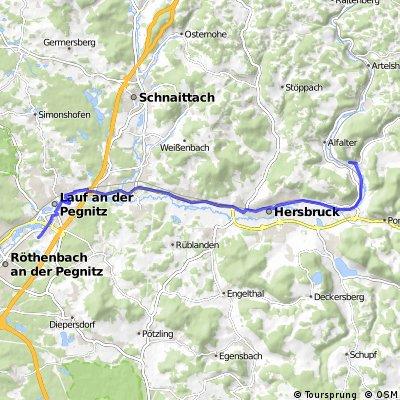 Lauf - Reichenschwand - Hersbruck - Hohenstadt - Eschenbach