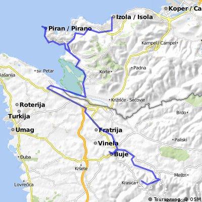 Udine - Trieste - Parenzana - Porec (5. Tag: Izola - Krasica)