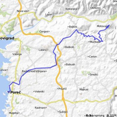 Udine - Trieste - Parenzana - Porec (7. Tag: Motovun - Porec)