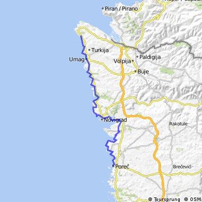 Udine - Trieste - Parenzana - Porec (8. Tag: Porec - Zambratija)