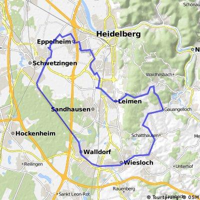 Heidelberg - Eppelheim - Gauangelloch Rundweg